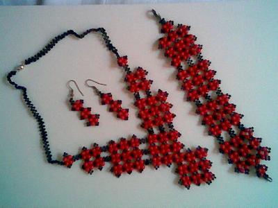 piros-fekete szett