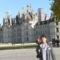 Chambord-i kastély előtt