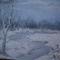 Téli alkony-vászn-akryl-30x40