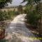kert hátsó része az elkészült murva uttal