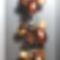 Bronzos borzas őszi karkötő