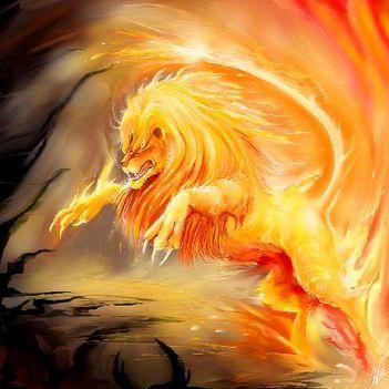 tűz oroszlán