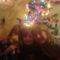 A gyerkőcök a karácsonyfánál