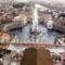 Kilátás a Bazilika kupolájáról a  Szent  Péter  térre