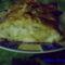 Baconba tekert csirke mell