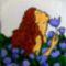 lány virágok közt