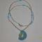 kék,ezüst medálos nyaklánc