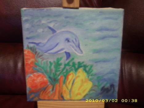 Delfin -olajfestmény