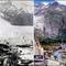 Rhone gleccser, Svájc, 1859 és 2001