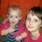 037A két gyöngyharmatos kisleány az unokáim