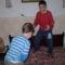 András és Lóránt birkózik