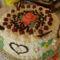 8 éves kis lány szülinapi tortája,Fekete-erdő torta