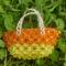 sárga-narancs strand táska