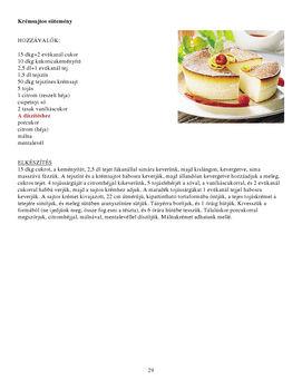 Krém sajtos sütemény