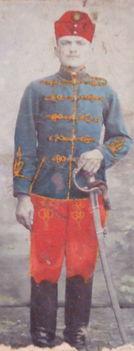 Nagyapám, Péter Lakatos József (mint huszár Grácban)