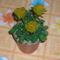 sárga cserepes rózsa