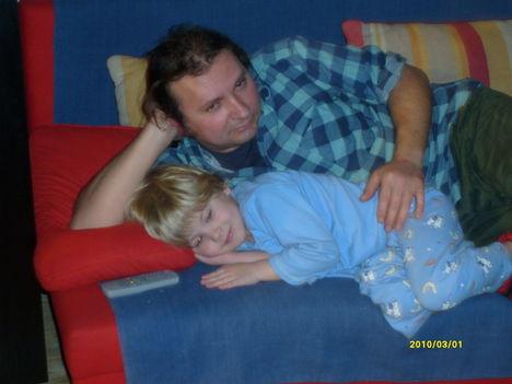 Párom és a legkisebb fiúnk