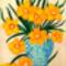 Nárciszok kerámia vázában