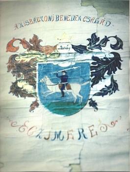 Kisbaczoni Benedek család címere színes JPEG