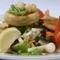 articsókás saláta tányér