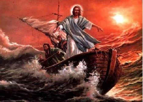 Jézus és a háborgó tenger