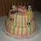 emeletes szülinapi torta