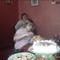 Mirella unokám és a feleségem.