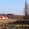 A Bio Birtokom Pátyon frissen megszántva, a háttérben a Szeitz Zsolt képviselő háza