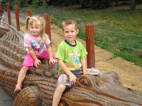 Dorinával az állatkertben
