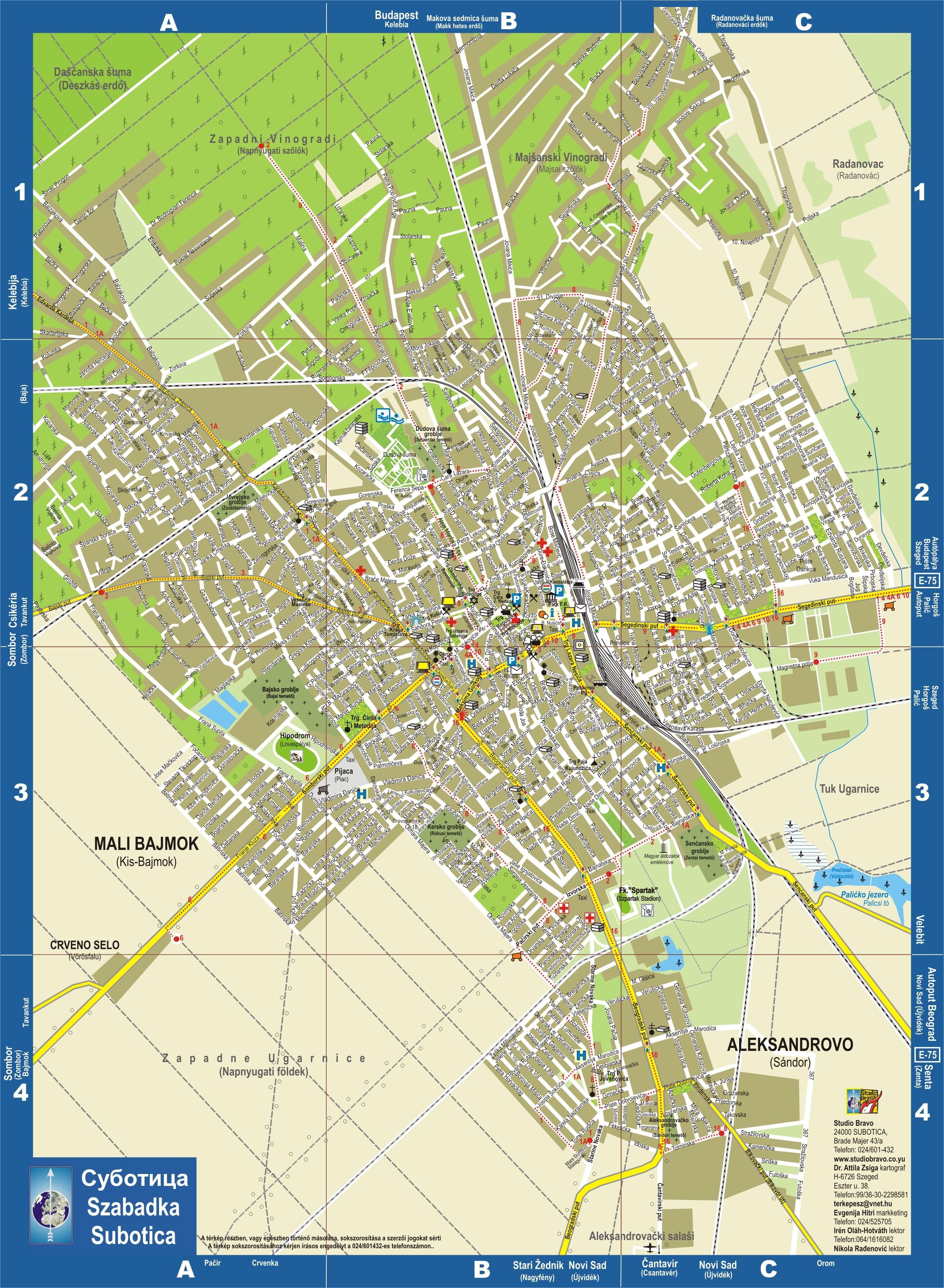 szabadka térkép Szabadka térkép javítva (kép) szabadka térkép